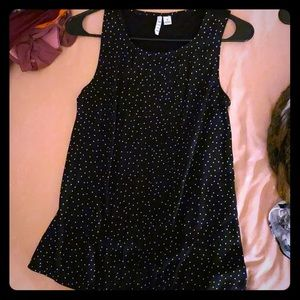Black and Whit Polka Dot Tank